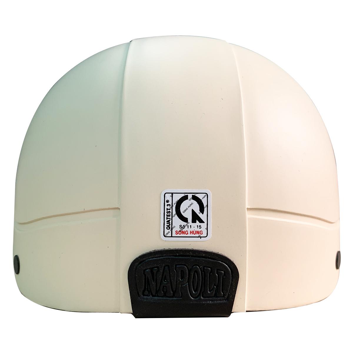 Mũ Bảo Hiểm 1/2 Đầu Napoli NS-N088 Chính Hãng - Màu Kem