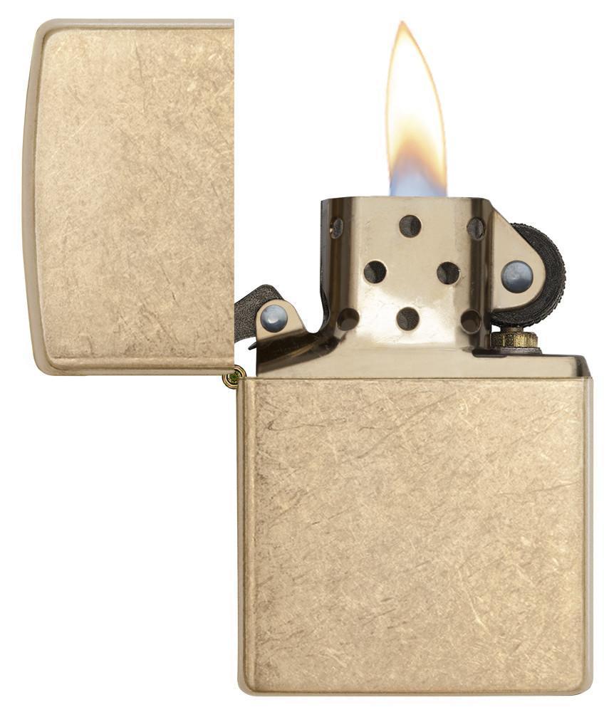 Bật Lửa Zippo Armor Tumbled Brass 28496