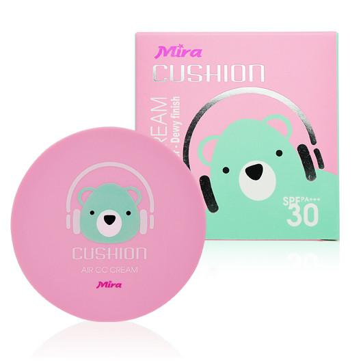 Phấn nước mỏng mịn Mira Cushion Air CC Cream Hàn Quốc 15g tặng kèm móc khoá 1