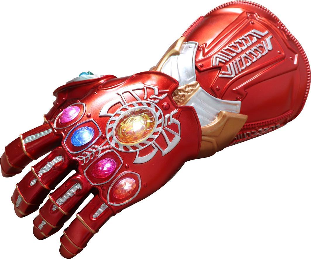 Găng Tay Vô Cực Của Iron Man Loại Cao Cấp Có Đèn Trên 6 Viên Ngọc Tỉ Lệ 1:1 Như Trong Phim Dành Cho Trẻ Em Và Người Lớn