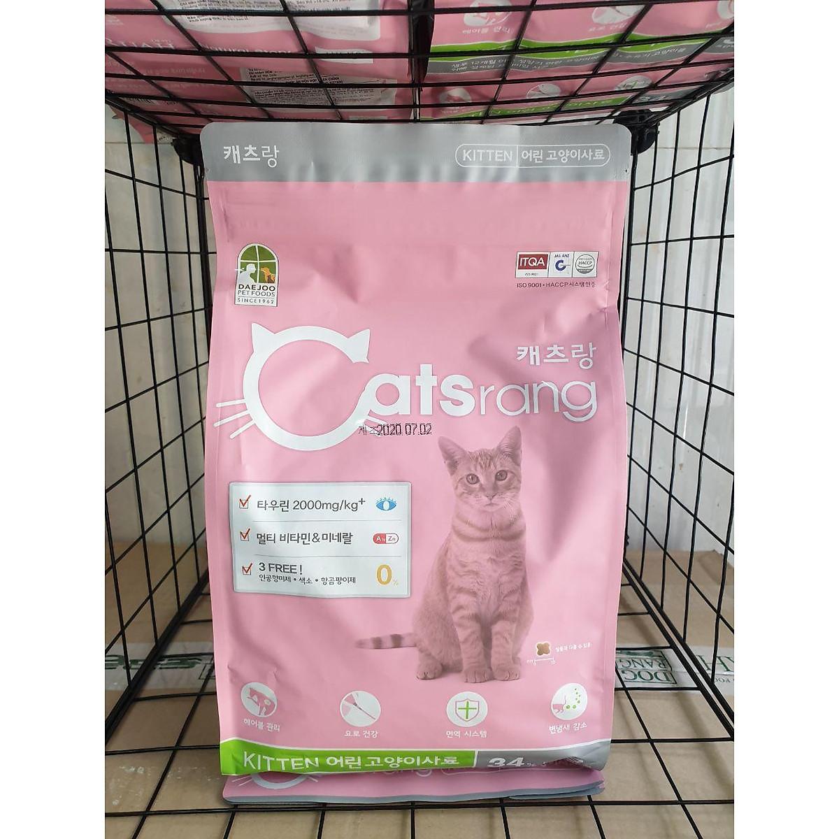 Catsrang - Thức Ăn Hạt Cho Mèo Con - Catsrang Kitten (Túi 1,5 Kg)