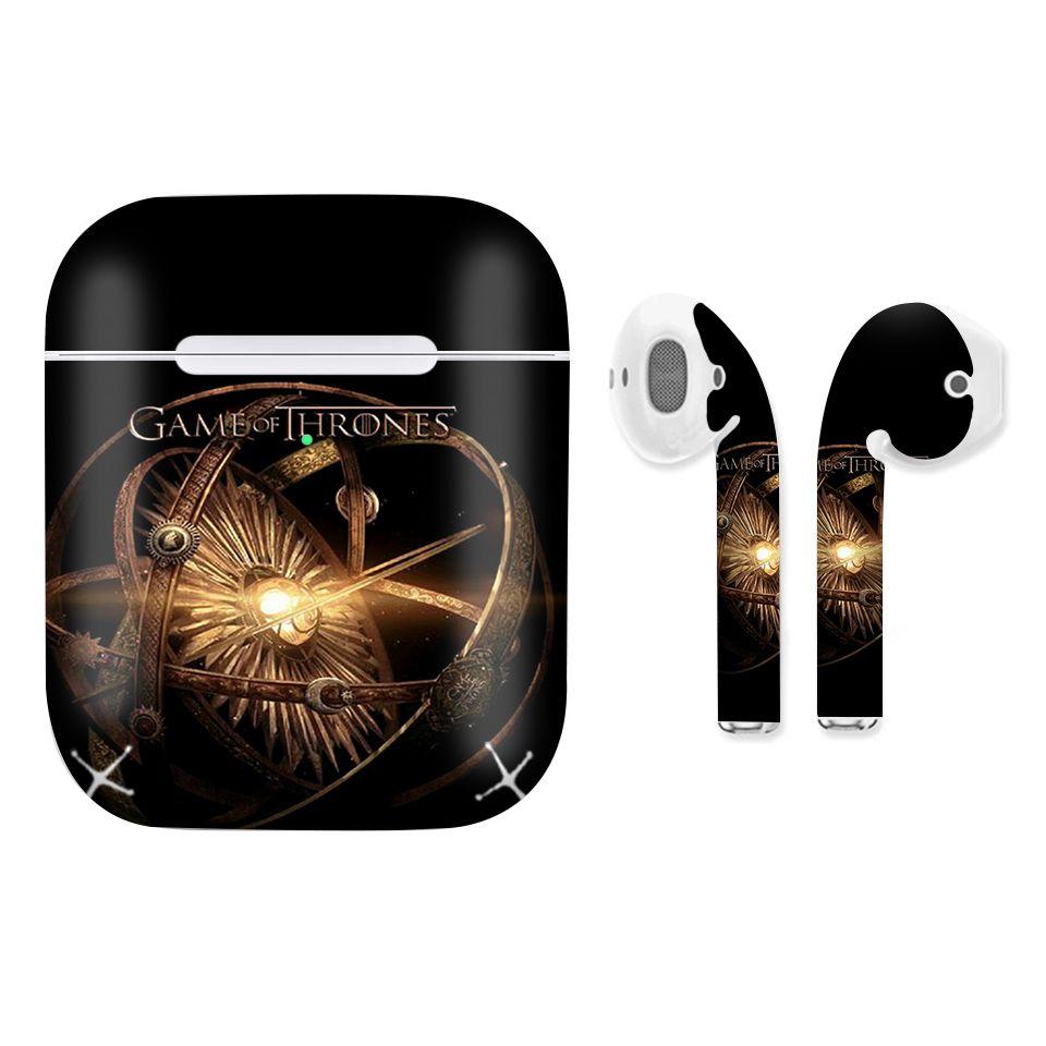 Miếng dán skin chống bẩn cho tai nghe AirPods in hình Game Of Throne - 009 (bản không dây 1 và 2)