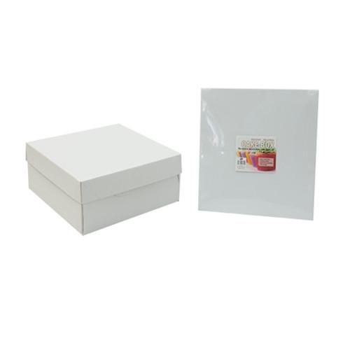 Hộp Đựng Bánh Kem Màu Trắng 28Cm UBL KS0179