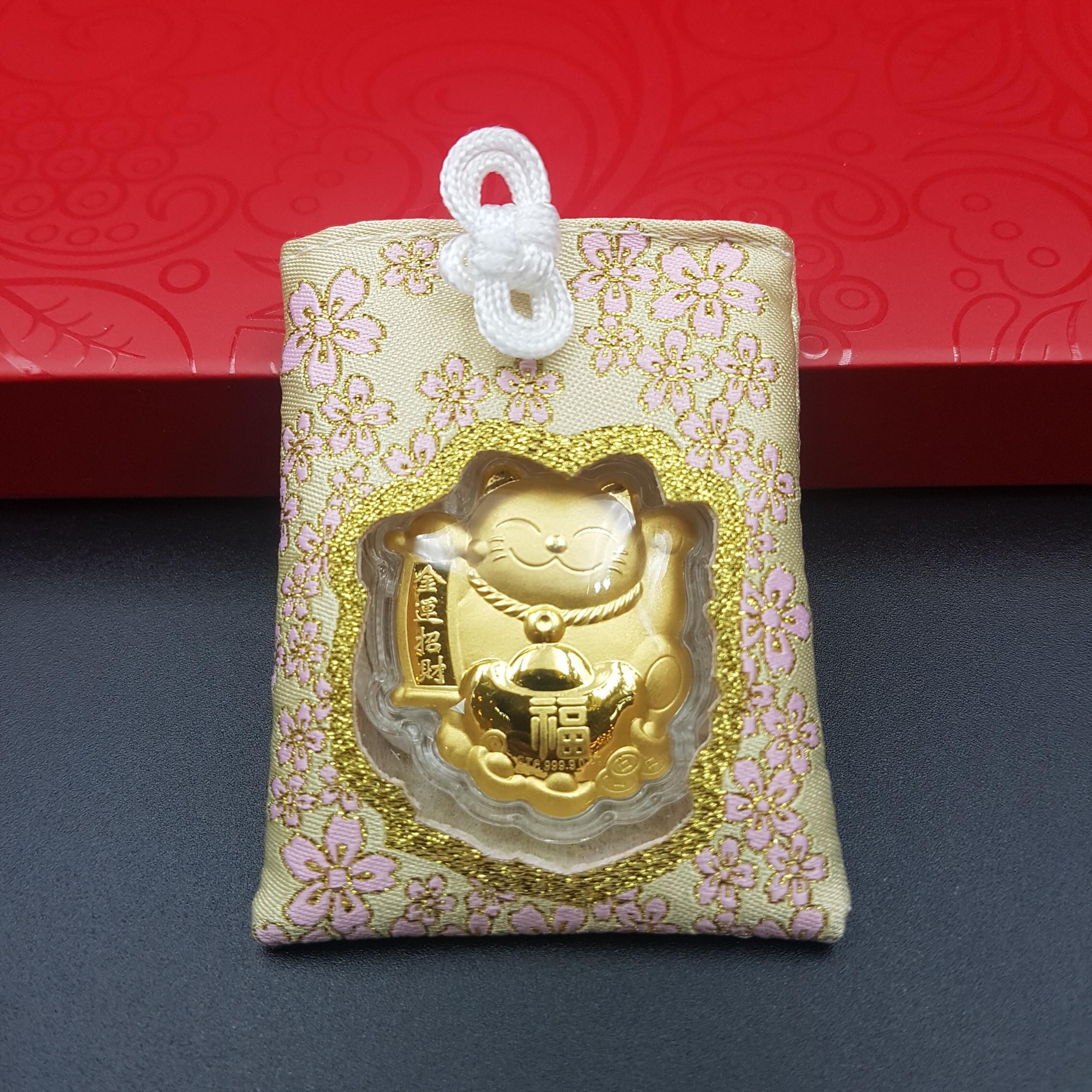 Bùa May Mắn Vàng 24K Mèo Chiêu Tài – Kai Gold | Tiki.vn