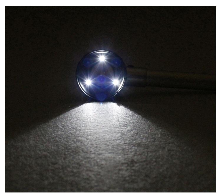Kính lúp cầm tay có đèn phóng đại 10 lần Z3 ( Tặng kèm 01 móc khóa tô vít ba chức năng )