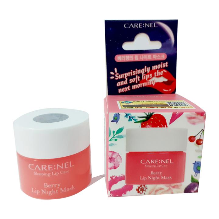 Mặt nạ ngủ môi khóa ẩm và mềm mịn hương dâu Carenel Lip Sleeping Mask Berry 5g