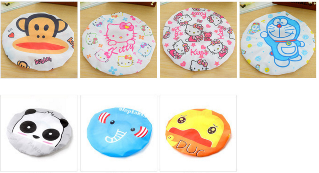 Bộ 1 Miếng Pad Rửa Mặt Silicone Nhật + 1 Nón tắm trùm đầu hình thú(Màu ngẫu nhiên)