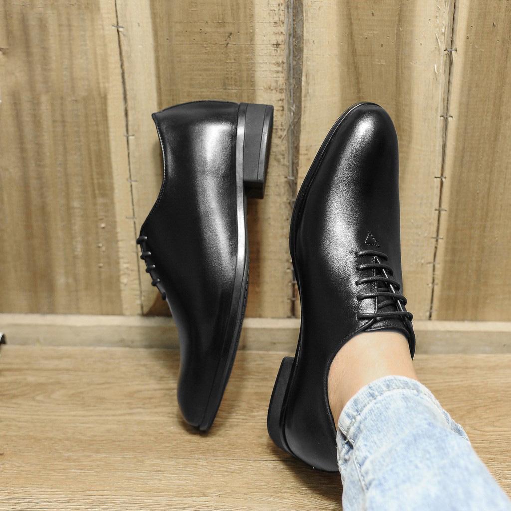 Giày tây nam buộc dây chất da bò 100%