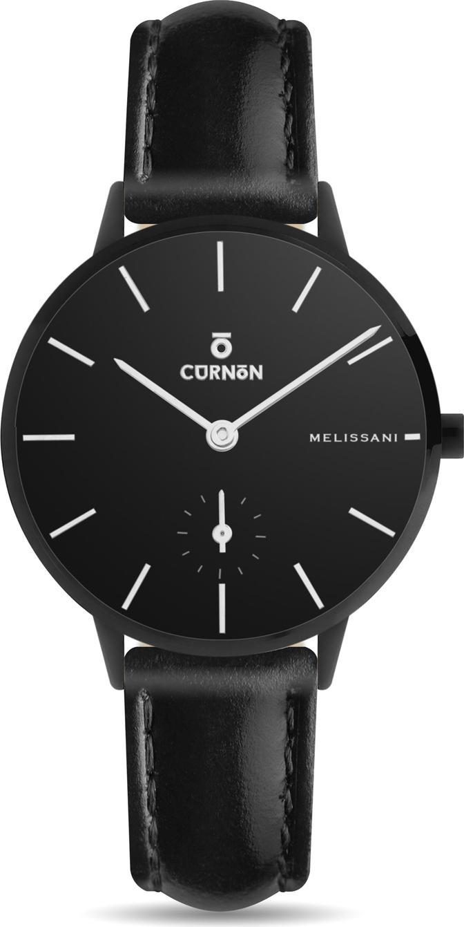 Đồng hồ nữ Dây Da Curnon Melissani Night Mặt Tròn Kính Sapphire (32mm)