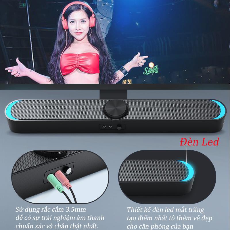 Combo Loa Vi Tính Thông Minh V-198, Hỗ Trợ Bluetooth, Karaoke, Hiệu Ứng Đèn Led Mặt Trăng Cao Câp + Tặng Bộ Bàn Phím Chuột Full Led Chuyên Game Cao Cấp