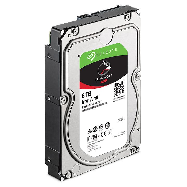 Ổ Cứng HDD Seagate IronWolf 6TB/128MB/3.5 - ST6000VN0033 - Hàng chính hãng