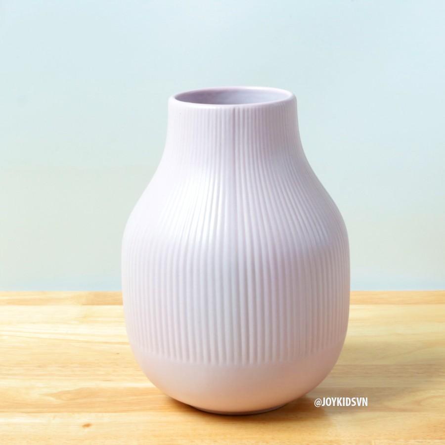 Bình hoa gốm hồng phong cách Bắc Âu hiện đại | Lọ hoa gốm trang trí - IKEA GRADVIS pink vase