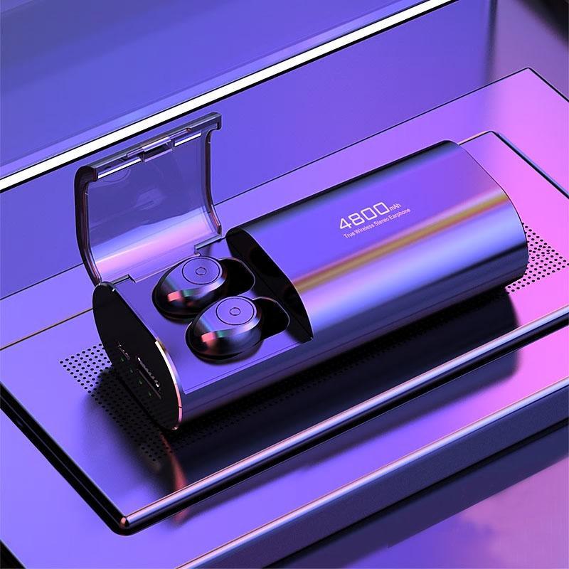 VINETTEAM Tai Nghe Bluetooth 5.0 S11 Chất Lượng Cao - Chống Nước IPX5 - Nghe 90h - Tích Hợp Micro - Tự Động Kết Nối - Tương Thích Cao Cho Tất Cả Điện Thoại -Công Nghệ Chống Ồn CVC 8.0- Hàng Nhập Khẩu