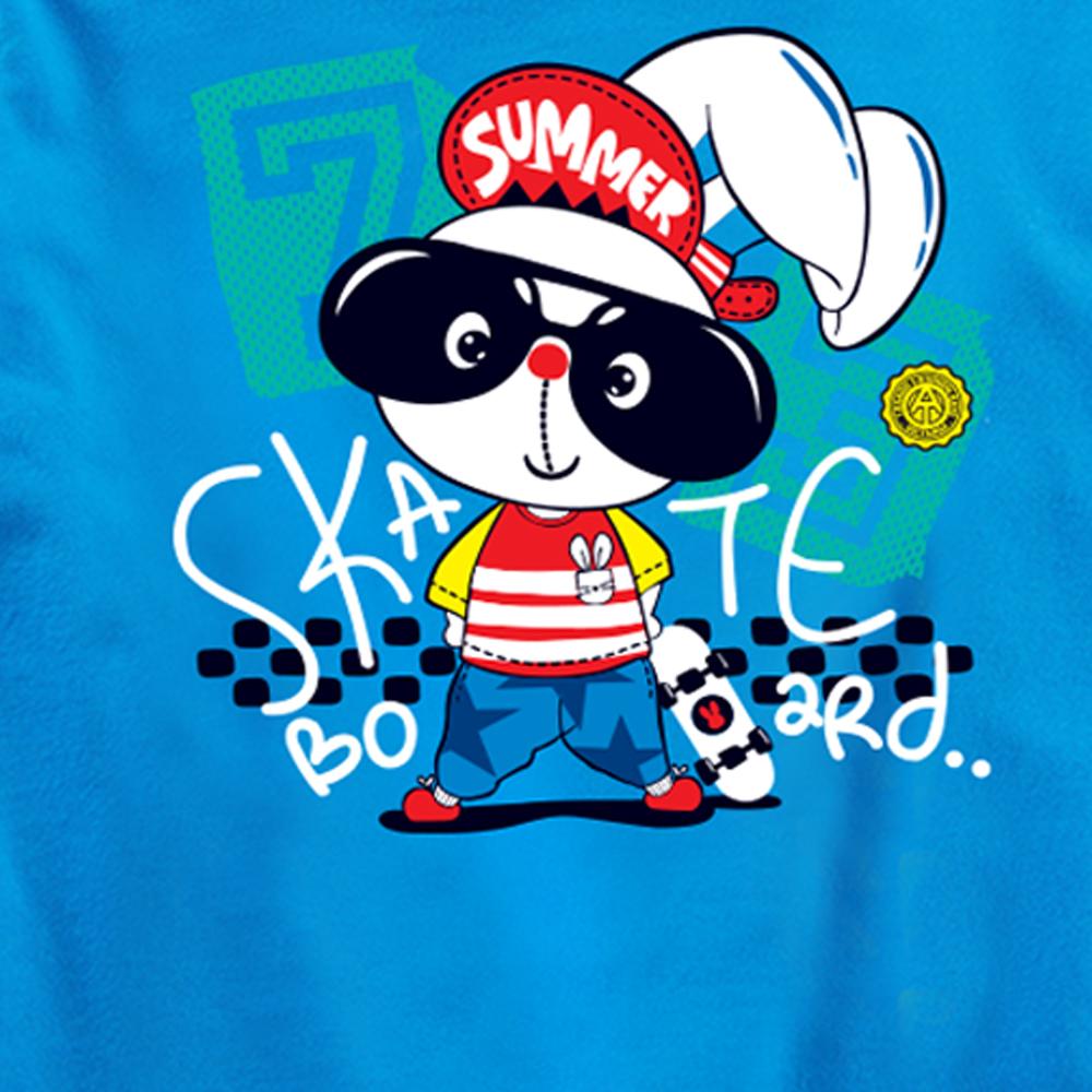 Áo thun trơn Thỏ lướt ván Skateboard Summer 2021 HOT kiểu dáng Hàn Quốc cao cấp thương hiệu TAMOD dành cho trẻ em.