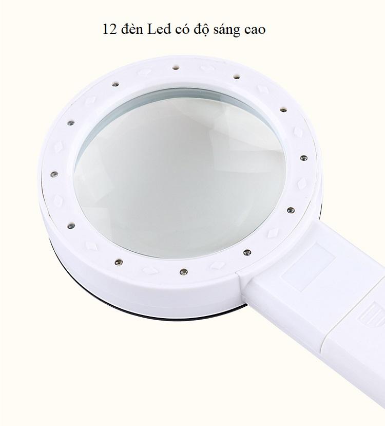 Kính lúp 30X cầm tay có đèn