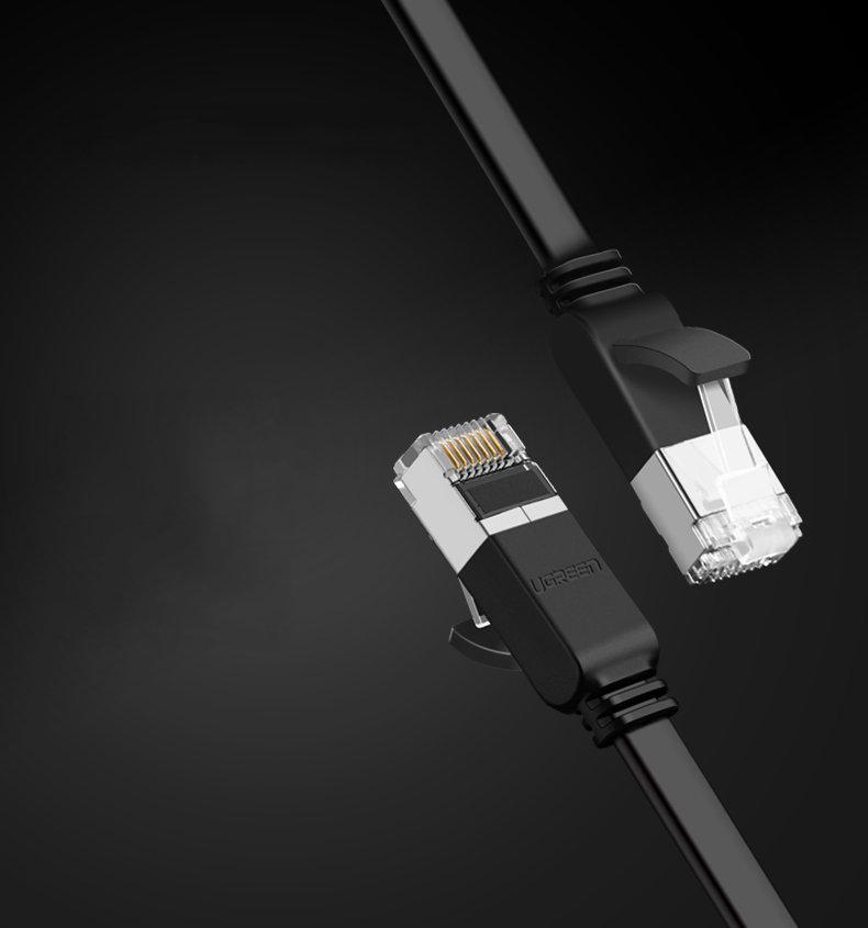 Cáp mạng Cat6 UTP 24AWG đầu bọc kim loại dài 0.5m UGREEN NW101 - Hàng Chính Hãng