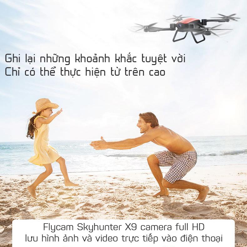 Flycam gấp gọn X9 quay phim chụp ảnh full-HD 1080p pin 1200mAh xem trực tiếp trên điện thoại