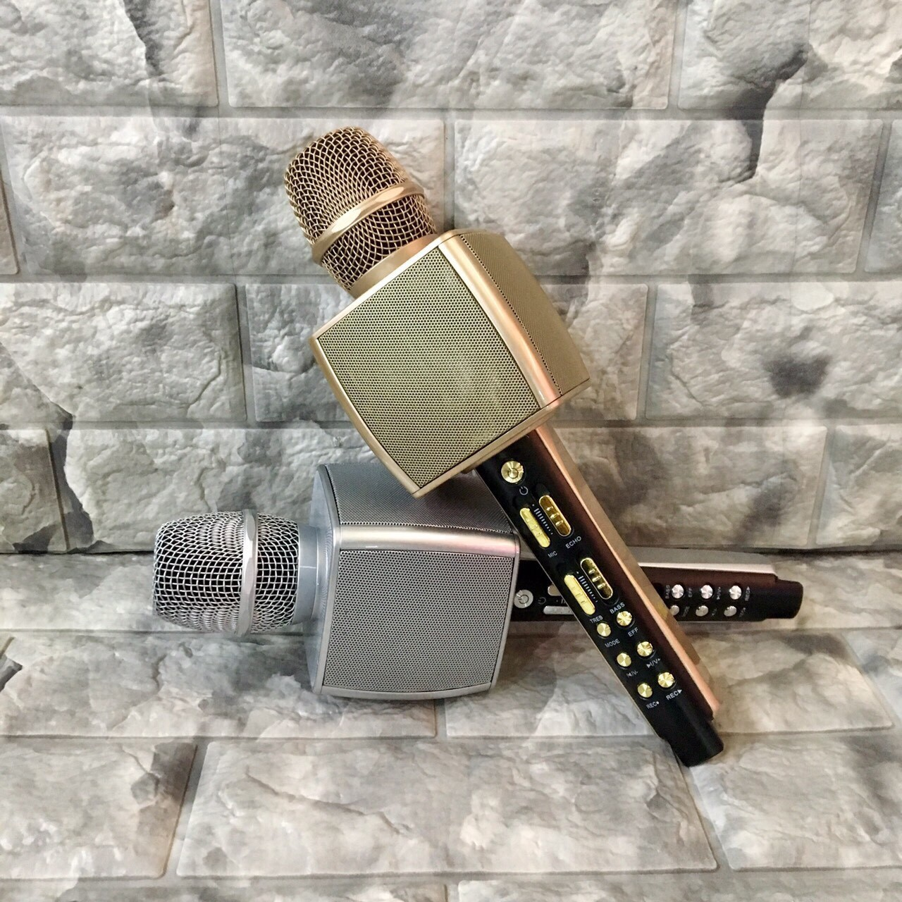 Micro karaoke ys92 mic livetream thu âm karaoke di động kiêm loa trợ giảng - MICRO YS92