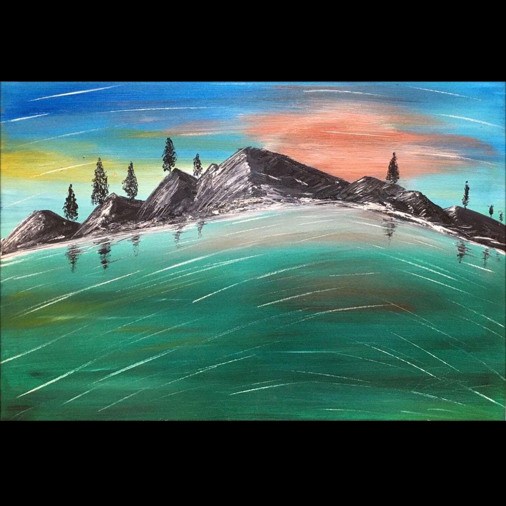 Tranh sơn dầu sáng tác vẽ tay: Vững