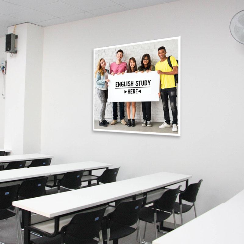 Tranh trang trí phòng học tiếng Anh đơn giản W2187