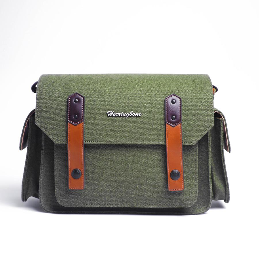 Túi máy ảnh Herringbone Papaspocket 3 Medium - Olive color