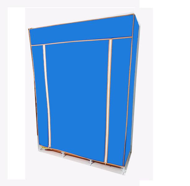 Tủ vải quần áo 3 buồng 8 ngăn, khung sắt sơn tĩnh điện, vải không dệt( hàng Việt Nam)