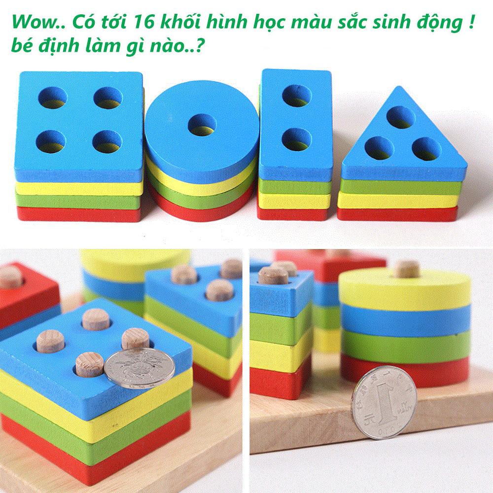 Thả hình thông minh 16 khối gỗ