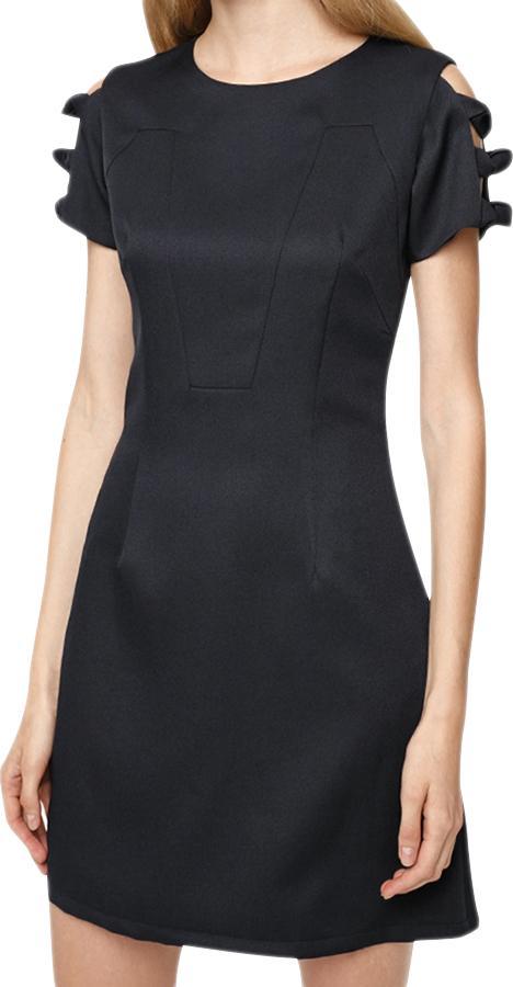 Đầm Nữ Phối Kiểu 2 Bên Tay Mint Basic - Đen Size M