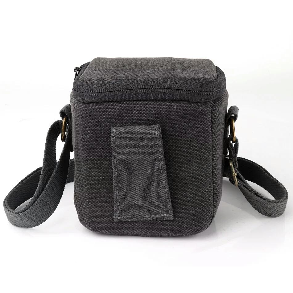 Túi vải kaki cho máy ảnh Mirroless Sony, Canon, Fuji- Hàng nhập khẩu
