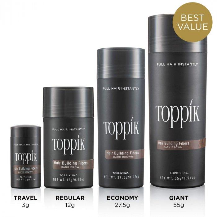 Bột phủ làm dày tóc Toppik Hair Building Fibers - chính hãng USA