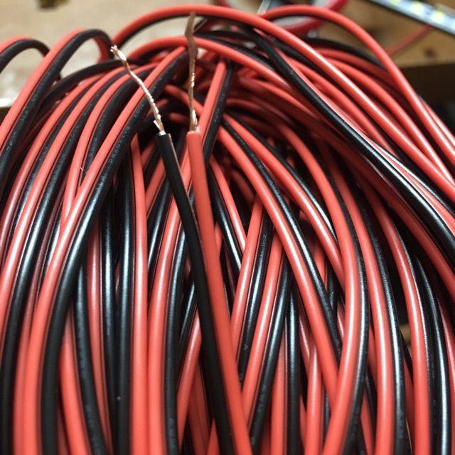 10 mét dây điện lõi đồng dẫn điện tốt, đỏ đen chuyên dùng cho led và mạch điện tử