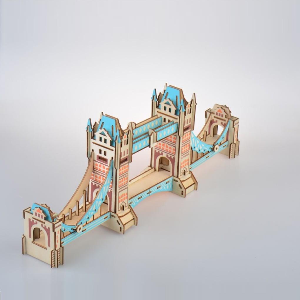Đồ chơi lắp ráp gỗ 3D Mô hình Tower Bridge Laser