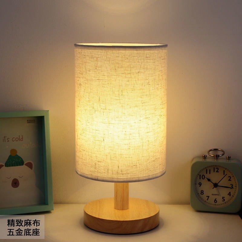 Đèn Ngủ Để Bàn Decor Thân Gỗ Phong Cách Hàn Quốc Scandinavian