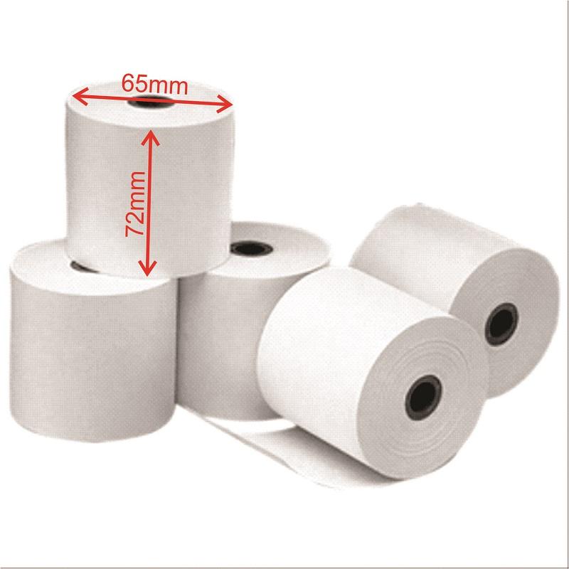 Giấy in nhiệt K72x65, giấy in hóa đơn K72x65, giấy in bill K72 (K80x45mm) - Hàng Chính Hãng