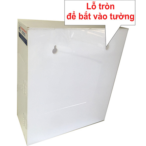 Hòm thư góp ý mica cao cấp màu trắng 3mm treo tường 25x12x30cm  HTD0-HT02