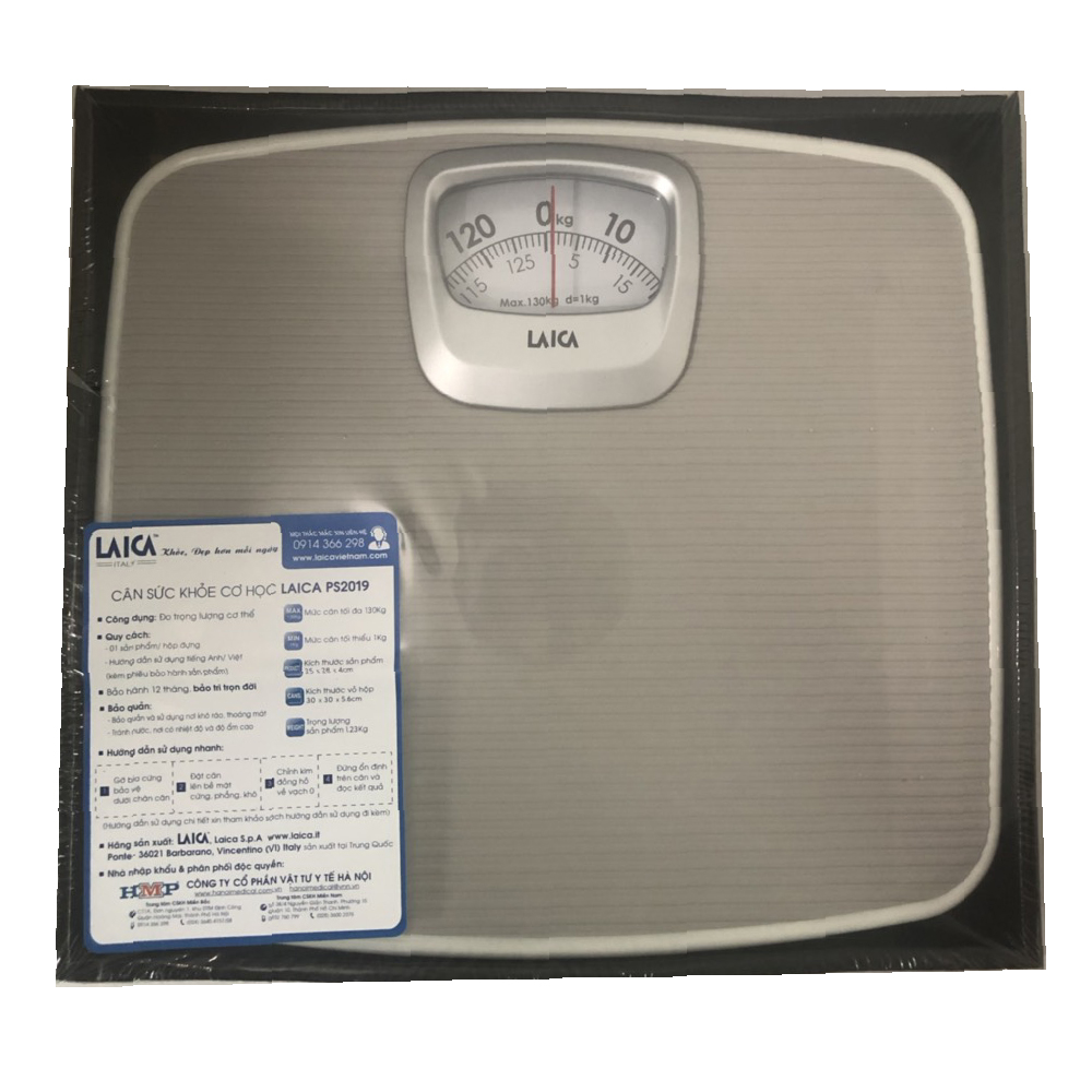 Cân cơ học đo sức khỏe Laica PS2019