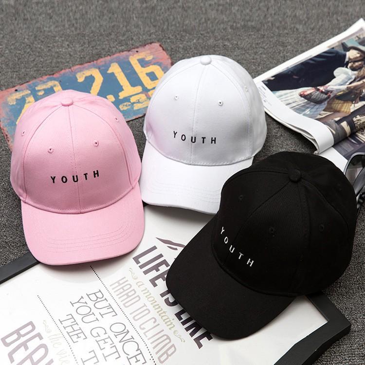 Mũ lưỡi chai YOUTH phong cách Hàn Quốc