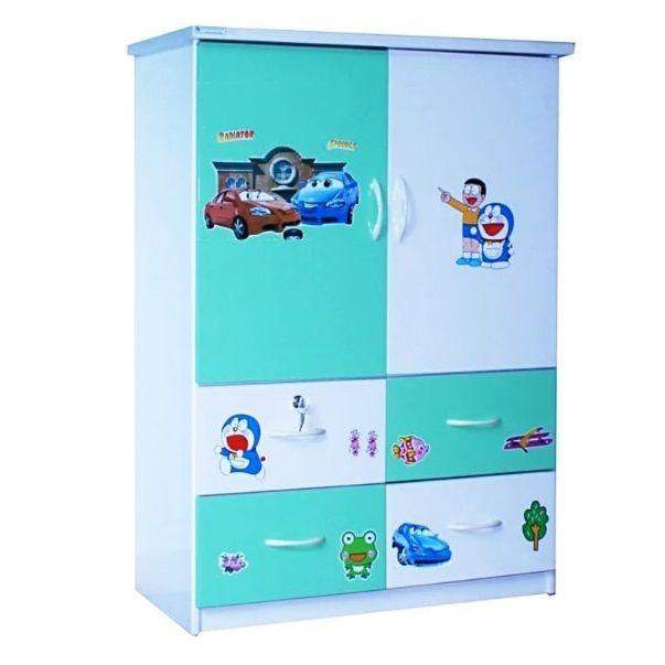 Tủ nhựa Đài Loan 2 cánh 4 ngăn T207 màu xanh ngọc