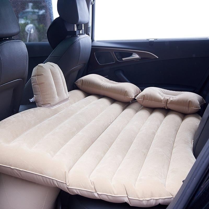 Bộ giường hơi + 2 gối chất liệu nhung cao cấp trên xe hơi
