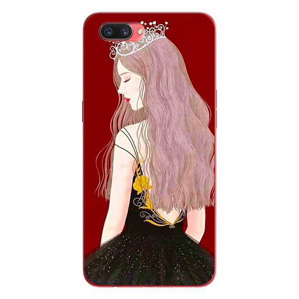 Ốp lưng dành cho điện thoại Oppo A3S/A5/realme C1 - Mẫu Anime Cô Gái Đeo Vương Miệng