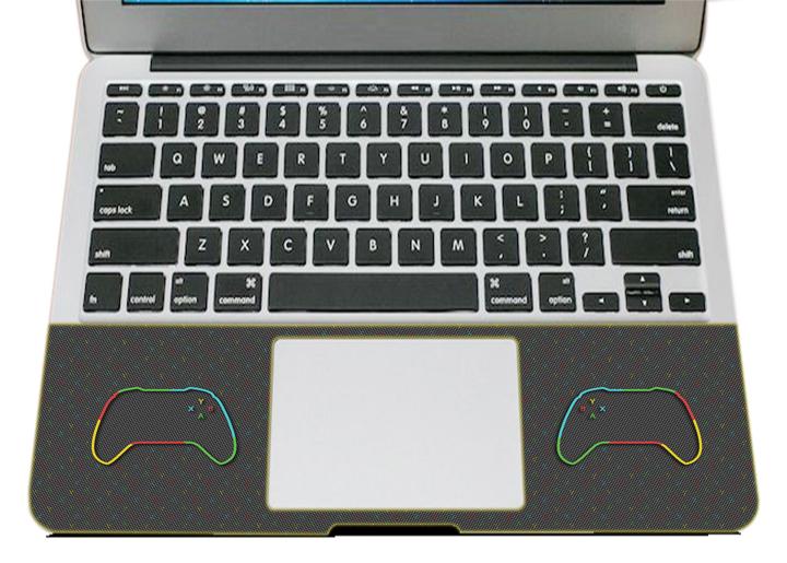 Miếng Dán Trang Trí Mặt Ngoài + Lót Tay Laptop Logo LTLG -  304