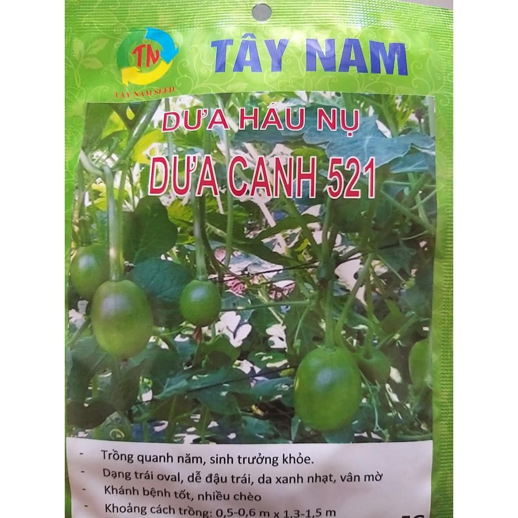 Hạt giống dưa hấu nụ Tây Nam Dưa Canh 521