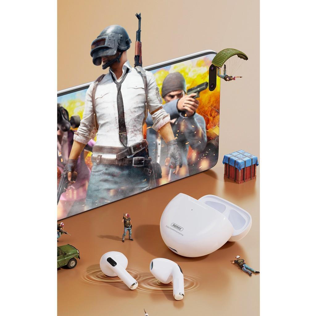 Tai nghe Bluetooth TWS Remax TWS-50i V5.1 Thiết kế nhỏ gọn, Thời trang (Trắng) HÀNG CHÍNH HÃNG