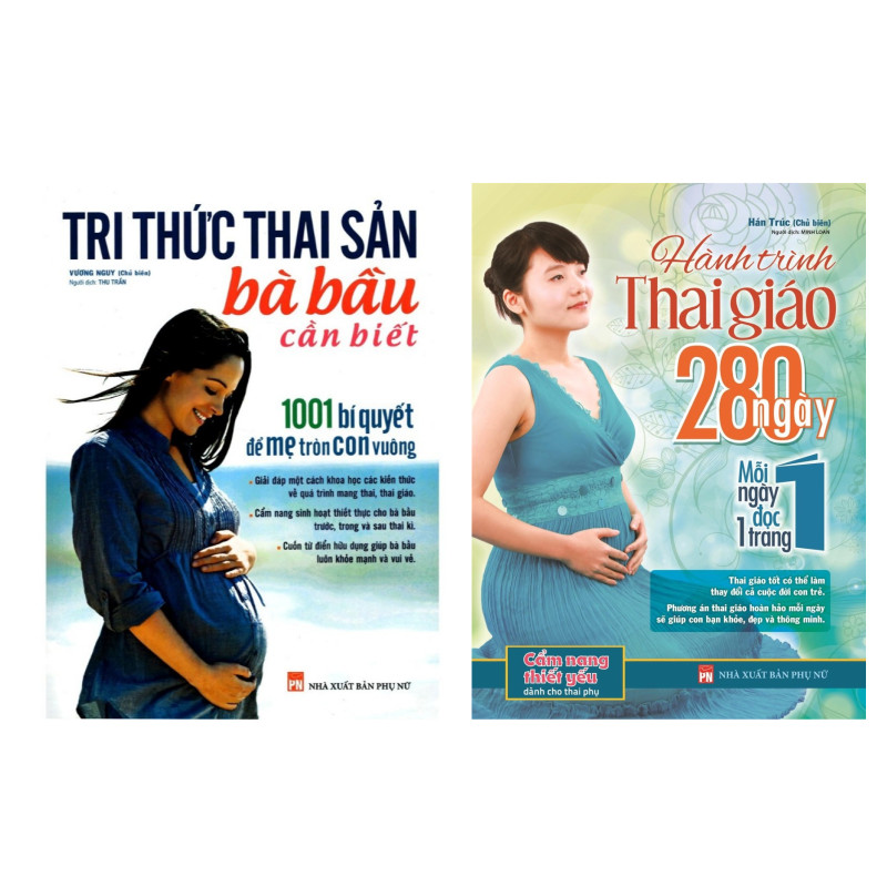 Combo Sách Dành Cho Mẹ Bầu: Tri Thức Thai Sản Bà Bầu Cần Biết + Hành Trình Thai Giáo 280 Ngày
