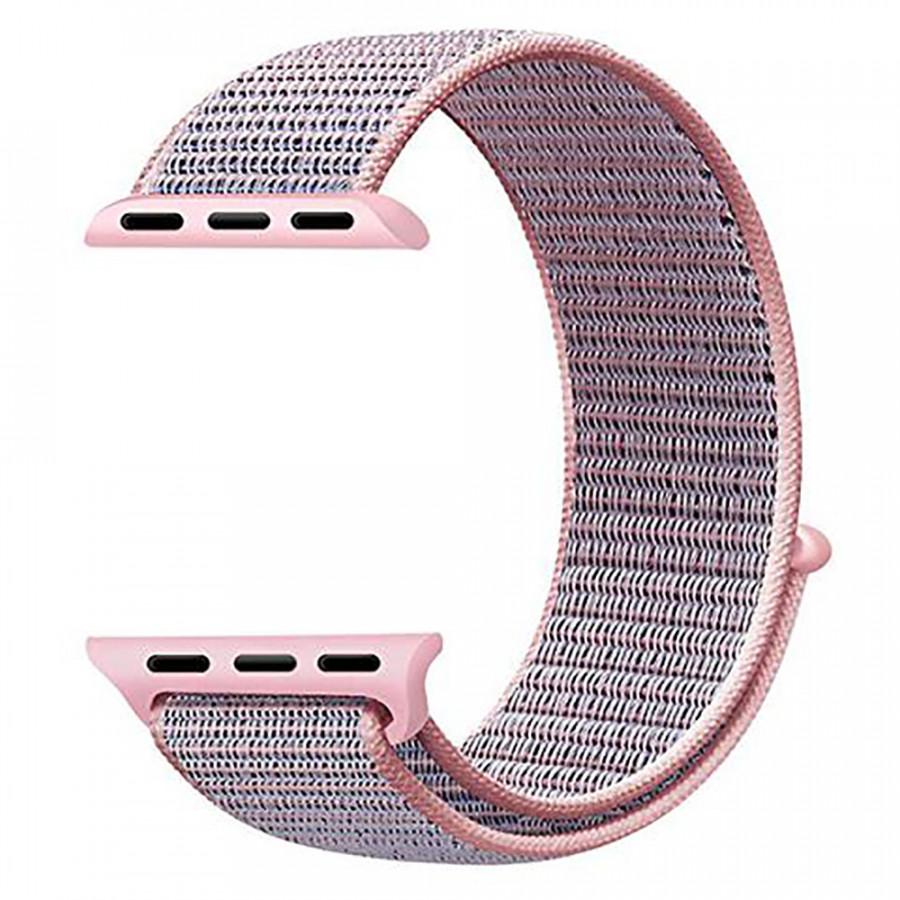 Dây Đeo Cho Apple Watch Nylon Sport Loop Màu Hồng Nhạt