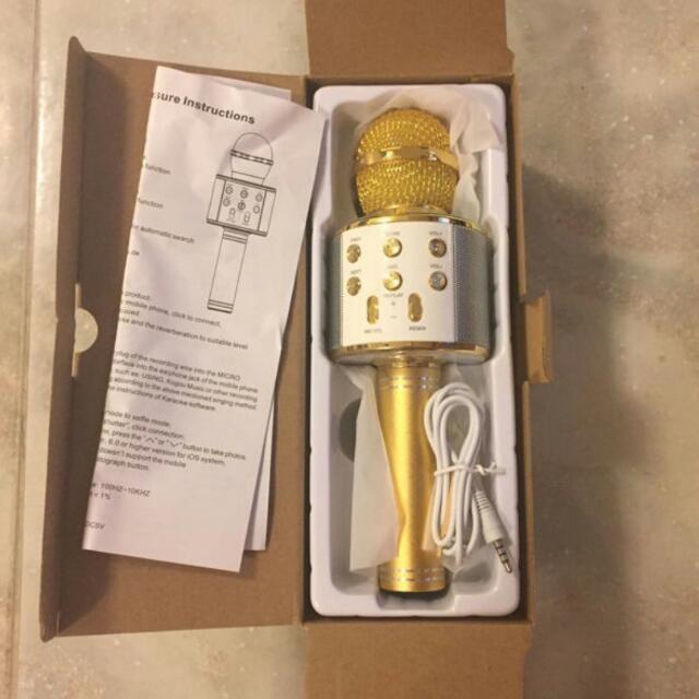 Mic Kèm Loa Bluetooth WS-858 Đa Năng 6 Trong 1
