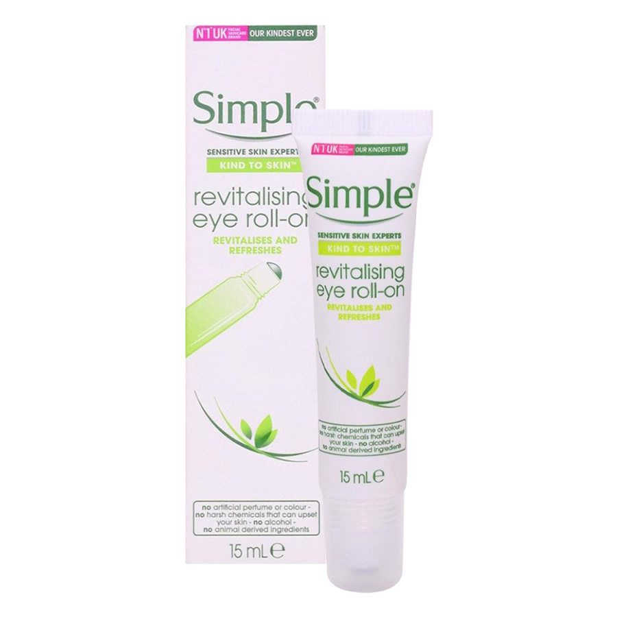 Lăn Dưỡng Mắt Simple Kind To Skin Revitalising Eye Roll On 15ml