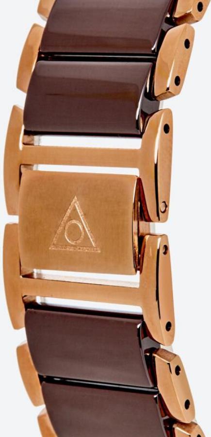 Đồng hồ Dugena nữ Quadra Ceramica 4460769 dây đen viền vàng