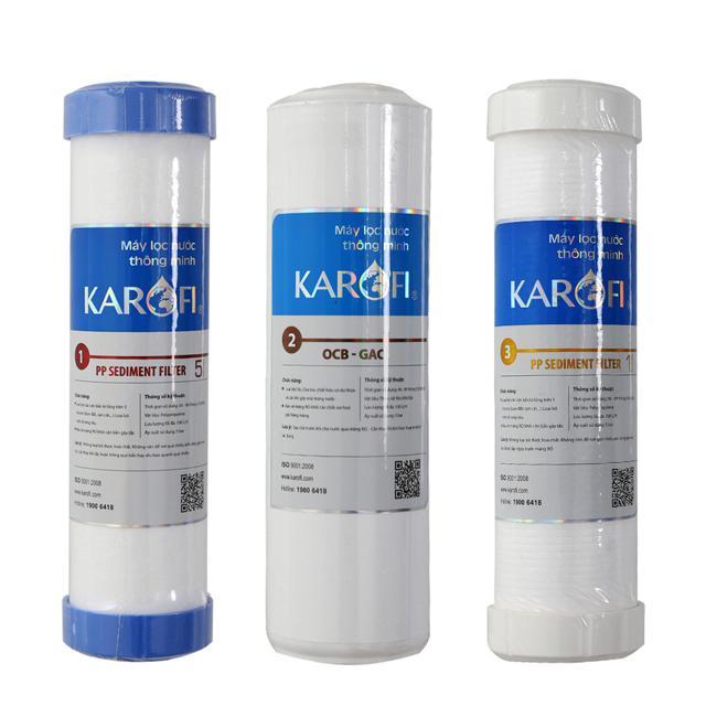 Combo 3 lõi lọc nước Karofi 1,2,3 chính hãng
