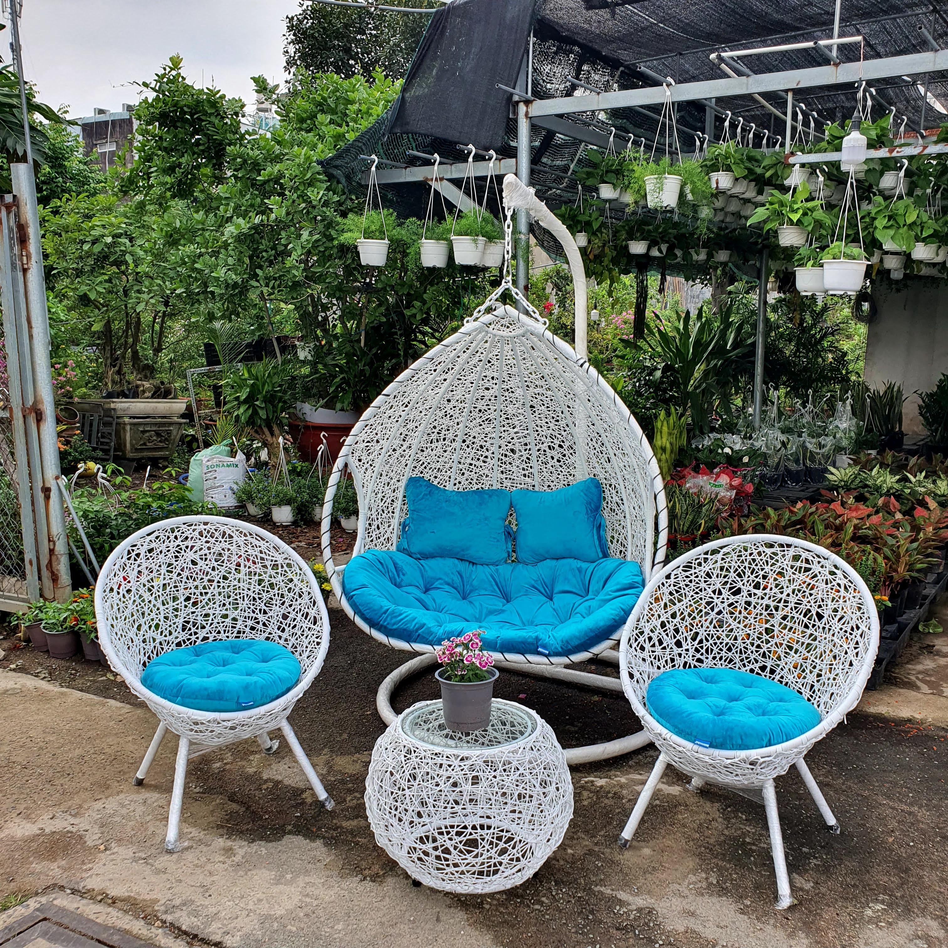 Bộ bàn ghế sân vườn + xích đu đôi NAVICOM N1